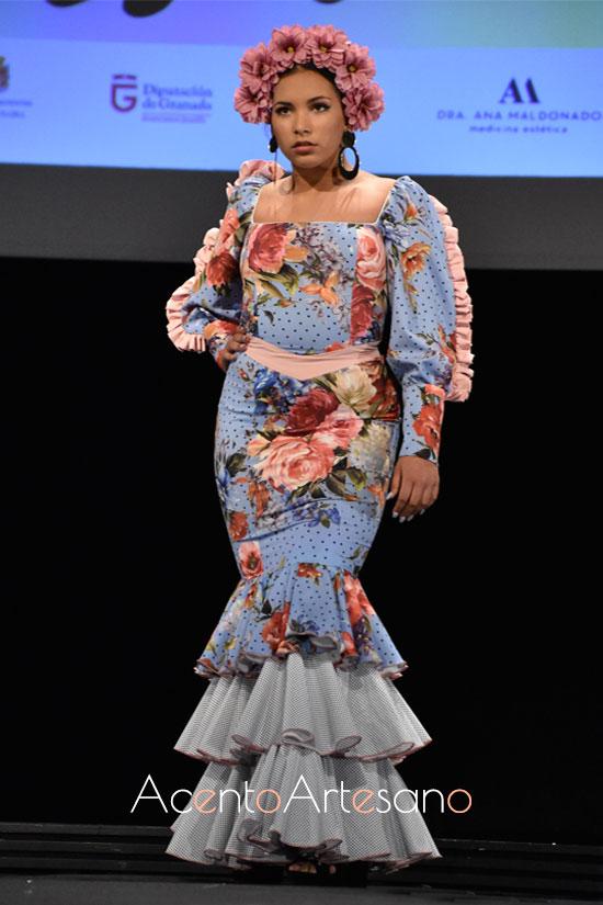 Traje de flamenca de flores de María Bustos