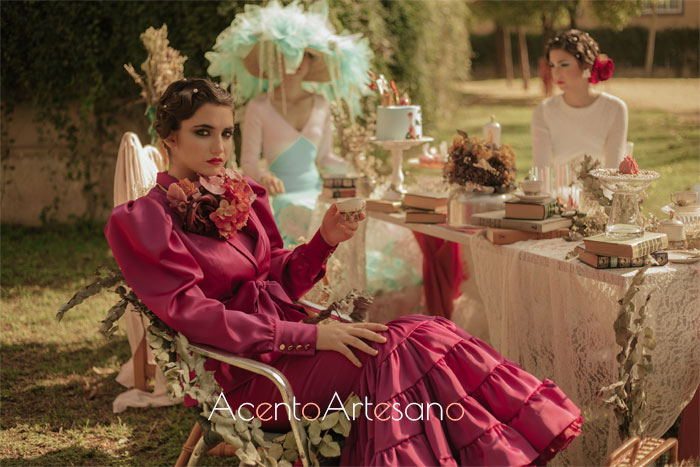 Trajes de flamenca de Aurora Ruíz en una merienda de locos