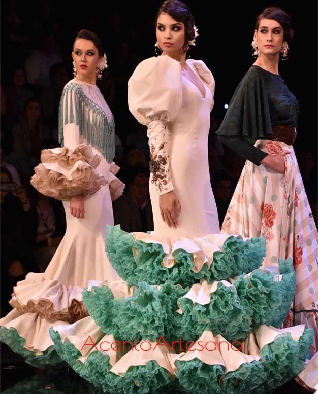 Trajes de flamenca de Cristina Vázquez en SIMOF