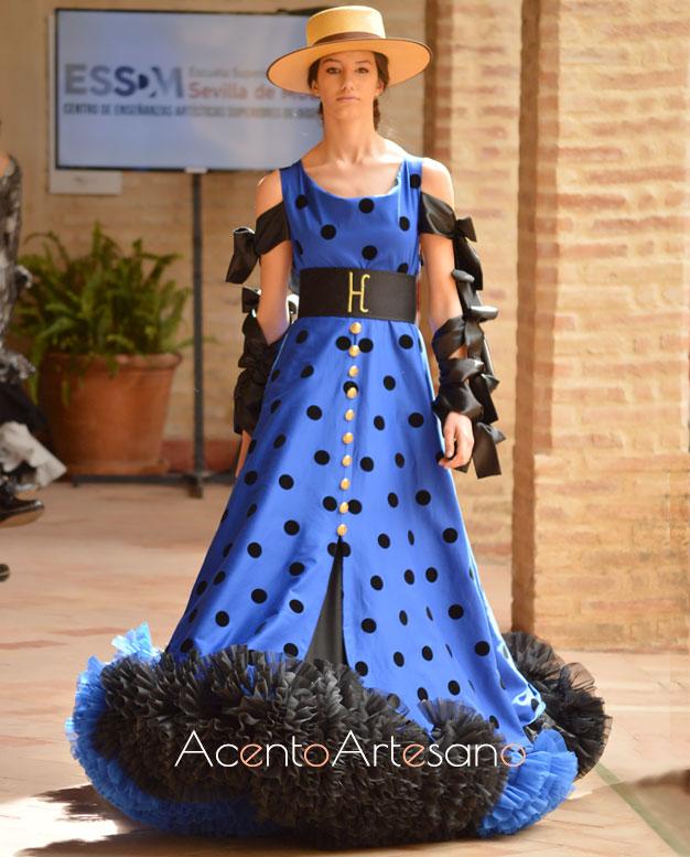 Traje de flamenca setentero de Alumnos de Sevilla de Moda en Wappíssima 2019