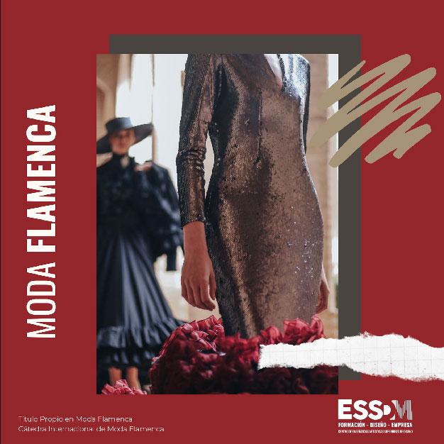 Cartel Título Propio en Moda Flamenca en la Cátedra Internacional de Moda Flamenca de Centro Enseñanzas Artísticas Superiores (ESSDM) y ACME