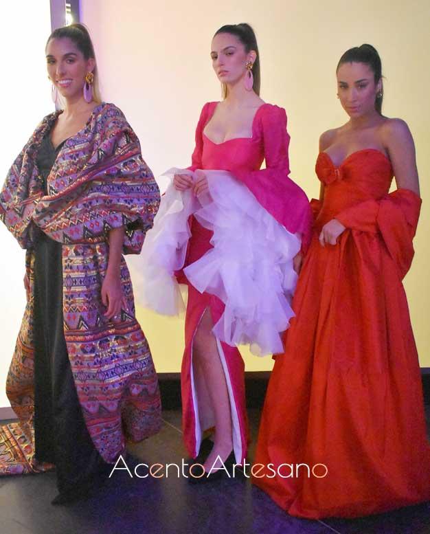 Trajes de noche inspirados en el diseñador Antonio Ardón realizados en la prueba por equipos en el programa 5 de Aguja Flamenca