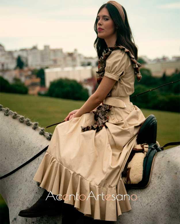 Vestido de amazona para El Rocío de Alejandro Andana