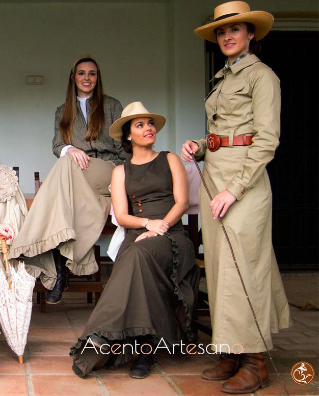 Tonos tierra para los vestidos amazona de la colección 'Galopa' de Alejandro Andana