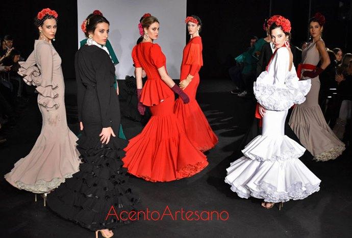 Rojo Tangee para trajes de flamenca Mg Macías