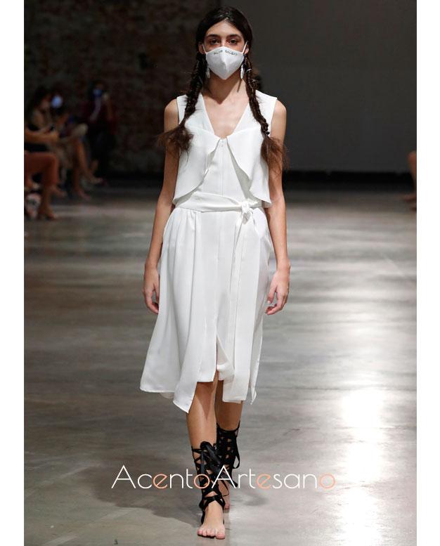 Vestido blanco de Pilar Dalbat