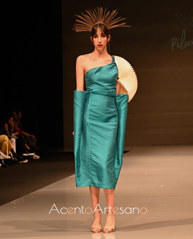 Vestido verde de Pilar Rico