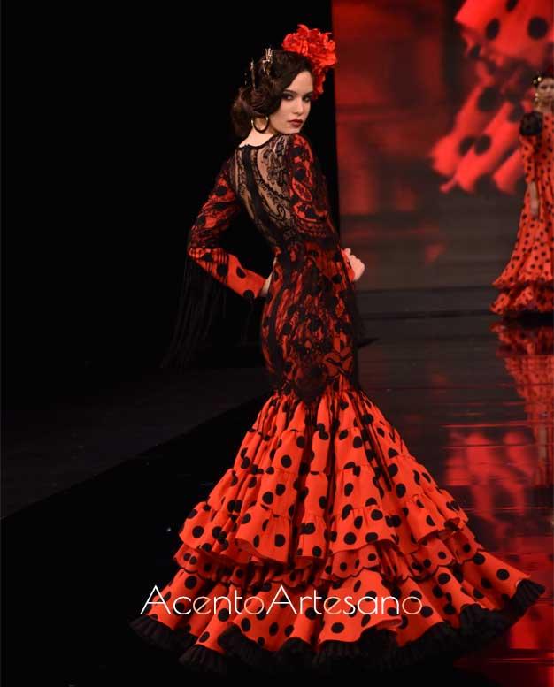 Taje de flamenca de la  asociación Mof&Art