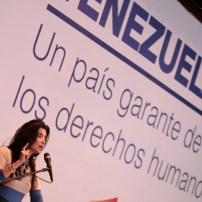 Presidenta de la Cámara de Venezolana de Radiodifusión, Enza Carbone.