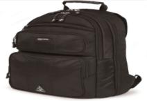 black traveling backpack
