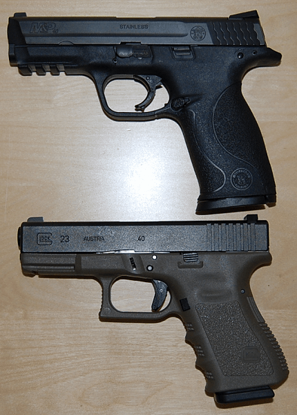 Smith & Wesson M&P .40 and Glock