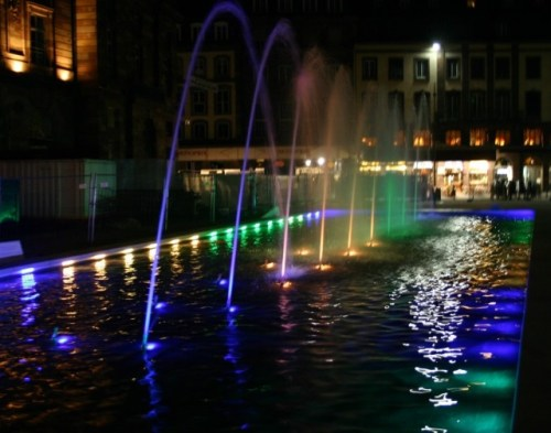 Strasbourg - Place Kléber - Fontaine lumineuse