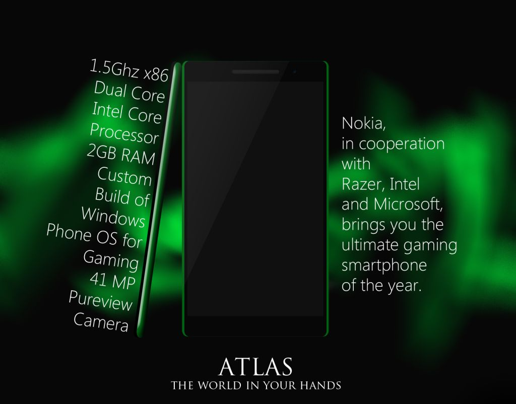 Nokia Xbox Phone Involes Razer, Intel and Microsoft   Nokia Atlas
