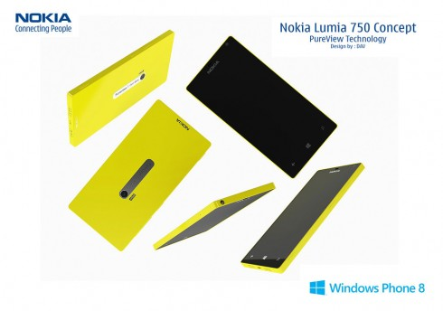 Nokia Lumia 750 Has Pureview Technology, Lumia 720 Design Inspiration