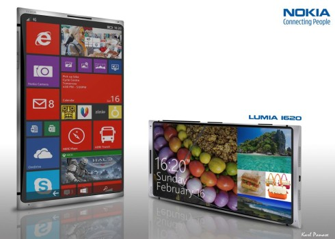 New Face of Lumia: Nokia Lumia 1620 Rendered, Features 2K Display