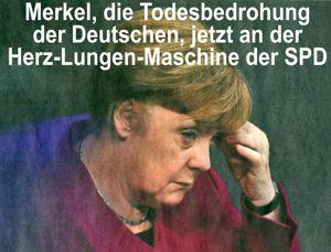 Merkel an der Herz-Lungen-Maschine