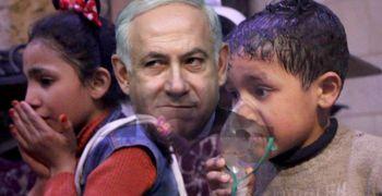 Netanjahu und Giftgasopfer