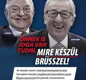 Orbans Kampagne gg Soros und Juncker
