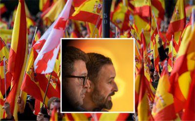 Francisco Serrano und Santiago Abascal Vox-Führer
