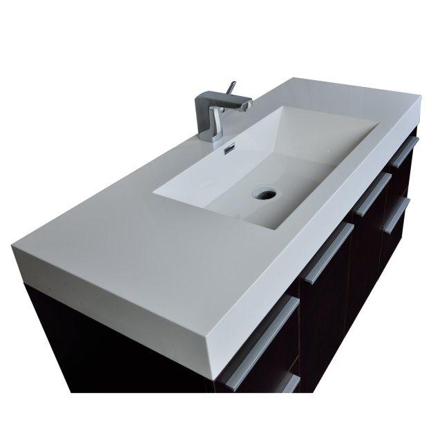 47 Inch Wall Mount Contemporary Bathroom Vanity in Espresso TN