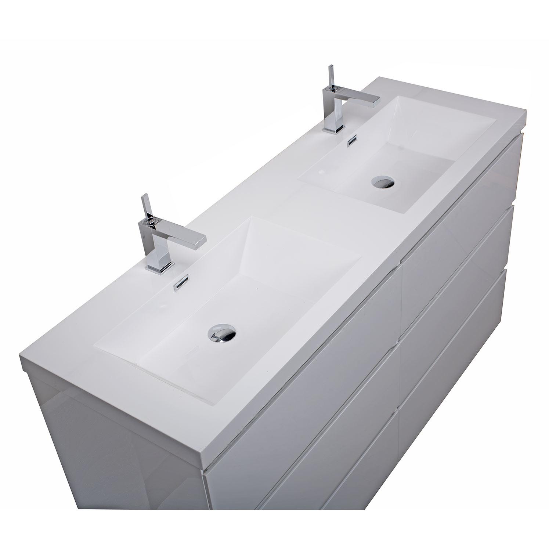 cbi edison 59 inch double modern bathroom vanity glossy white tn ed1500d hgw