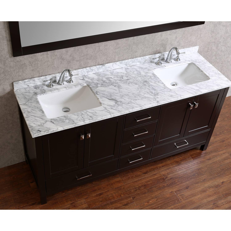 vincent 72 solid wood double bathroom vanity in espresso hm 13001 72 wmsq esp