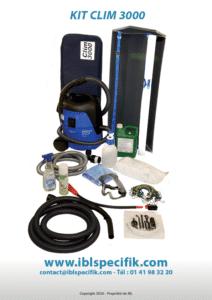 Kit complet pour Nettoyeur vapeur pour climatiseur Cim3000