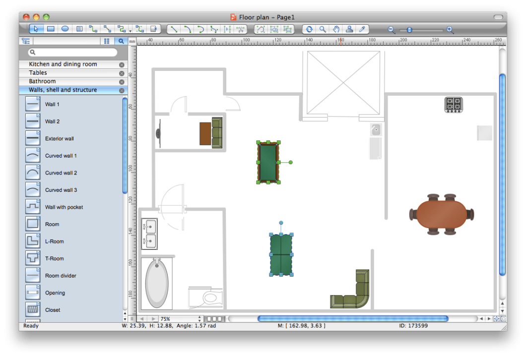 Interior design layout software for Restaurant planning software