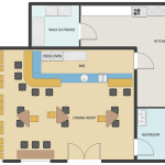 Cafe And Restaurant Floor Plan Solution Conceptdraw Com Restaurant Furniture Layout
