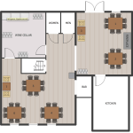 Cafe And Restaurant Floor Plan Solution Conceptdraw Com Restaurant Furniture Layout
