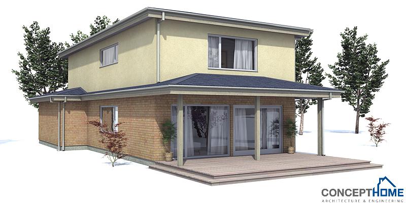Modern House OZ66 To Narrow Lot Cheap To Build House Plan