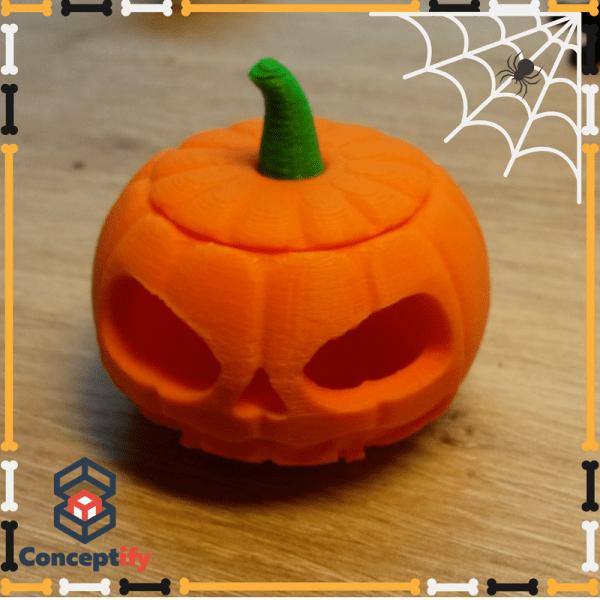 Citrouille Halloween réalisée par une imprimante 3D