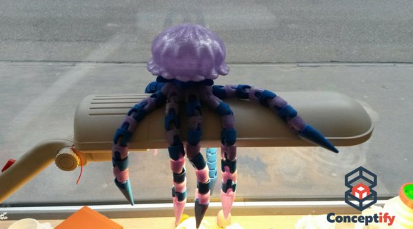 Méduse imprimée en 3D
