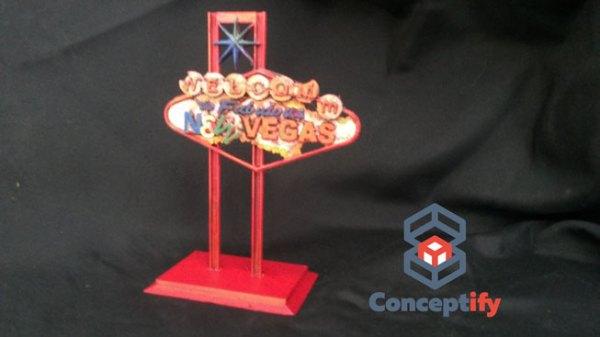 Pancarte Fallout New Vegas Impression 3D Rouge