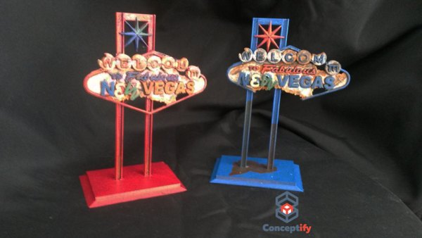 Pancarte Fallout New Vegas Impression 3D