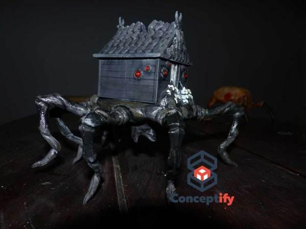 Maison Araignée réalisée par impression 3D pour Halloween