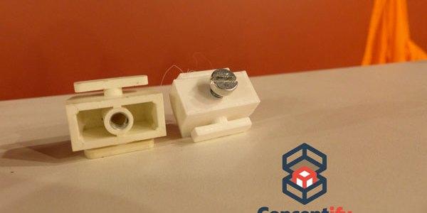 Attache de radiateur reproduite par impression 3D