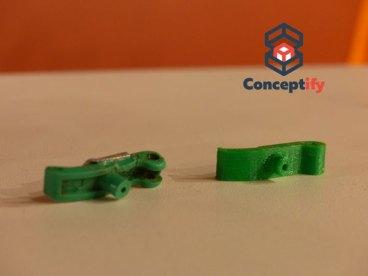 Fabrication d'une pièce d'agrafeuse par impression 3D