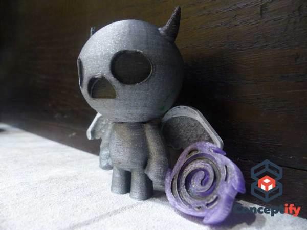 Figurine de Appollyon imprimée en 3D (Binding of Isaac)