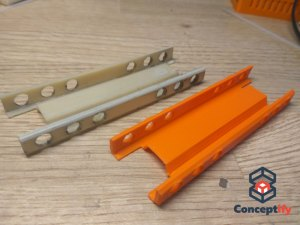 Coulisseau de tiroir fabriqué par impression 3D