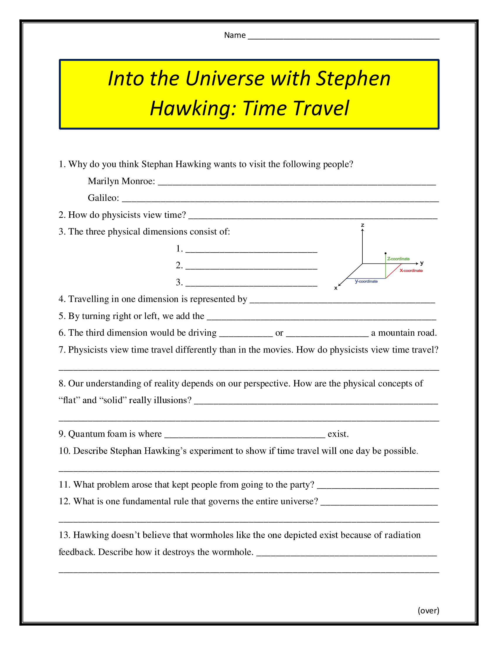 Into The Universe With Stephen Hawking Time Travel