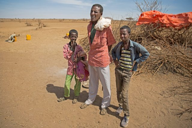 Awil Raage and his two sons are camped out in Ilkaweyne, Somaliland