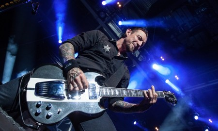 Michael Poulsen of Volbeat performing at Abbotsford Entertainment & Sports Centre - September 8th 2013