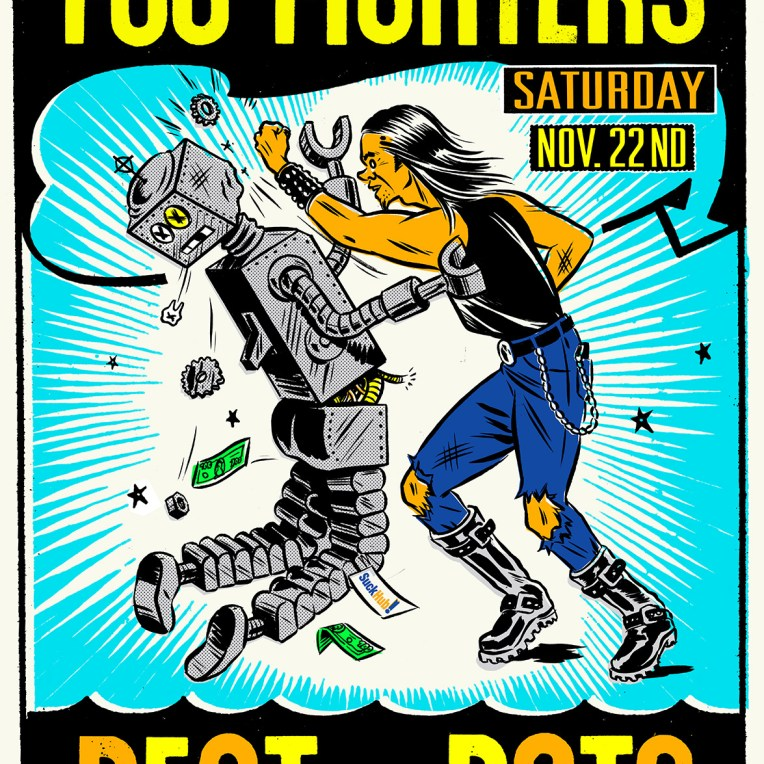 foo fighters beat the bots
