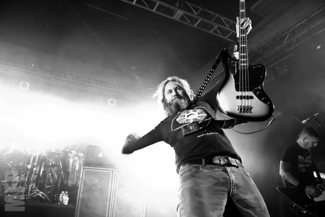 Troy Sanders of Mastodon @ Showbox SODO © Michael Ford