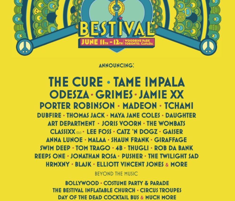 Bestival toronto festival music 2016 poster
