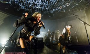 Sarah Barthel + josh carter of Phantogram at commodore ballroom vancouver by jamie taylor