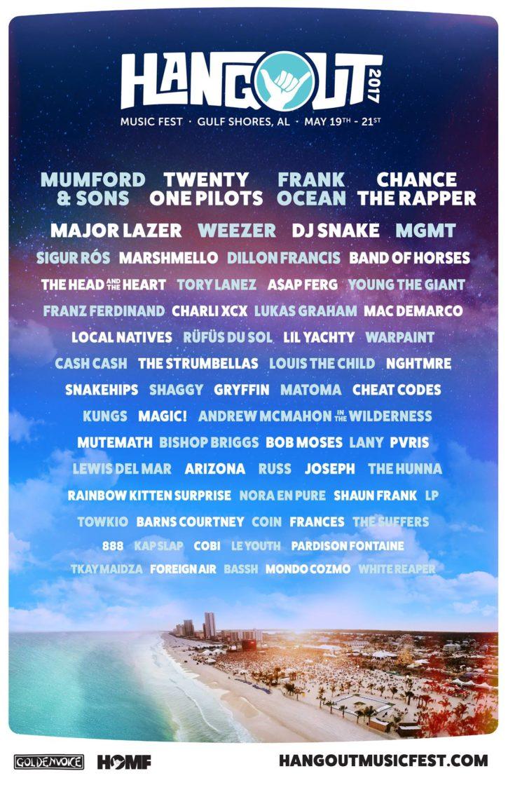 2017 Hangouts Music Festival Lineup poster