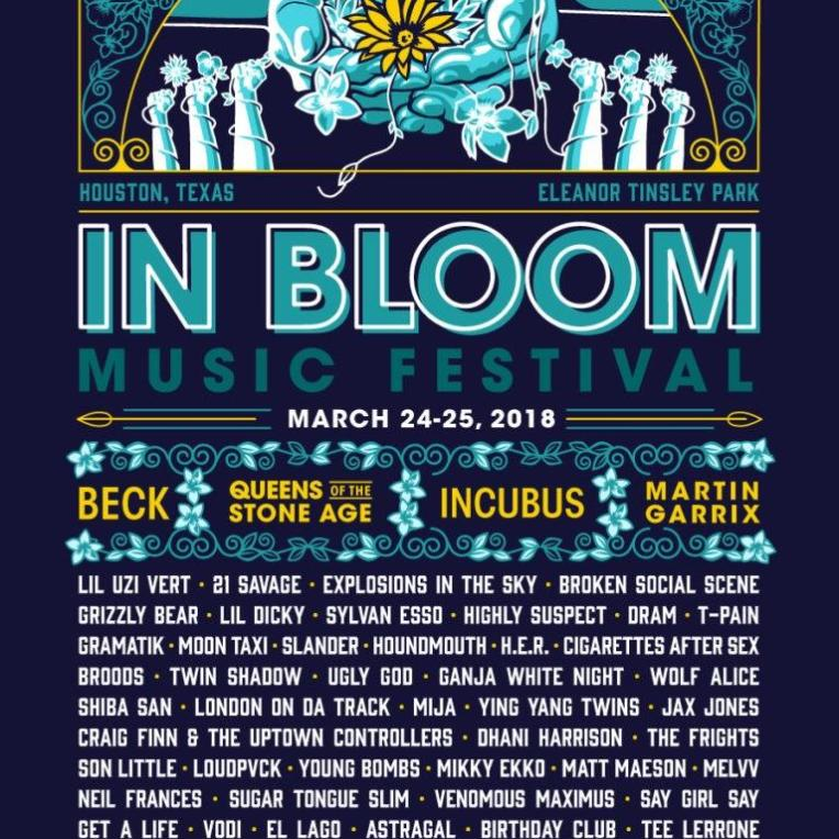 in bloom music festival houston 2018 poster admat lineup