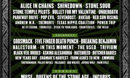 Monster Energy Carolina Rebellion 2018 lineup poster
